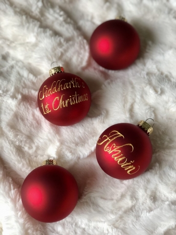 Montreal ornaments. Personalized Ornaments.